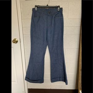 Vintage cuffed Bellbottom jeans.